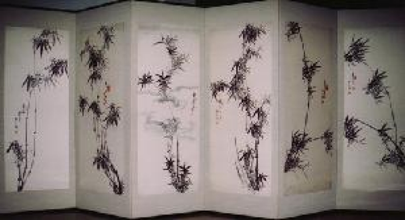 福田太華 墨竹の画像です